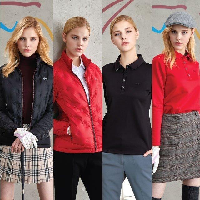 그렉노먼 경량다운재킷 + 기모티셔츠 3종 여성