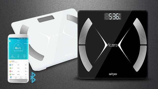 가포 핏제로 체중계 블랙/화이트 블루투스연동 체지방 측정
