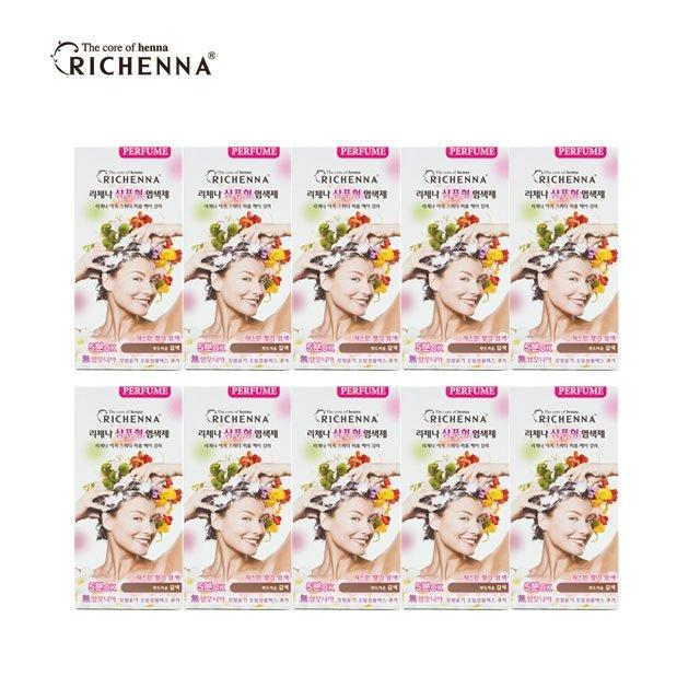 [리체나] 샴푸형 퍼퓸 염색제 (10박스)