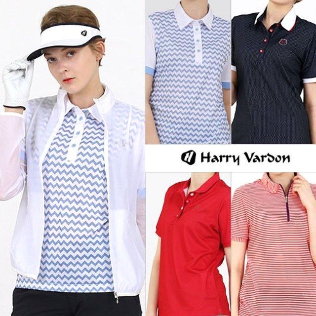 헤리바든 SS 골프웨어 여성 상의 5종 세트 (바람막이 1종+티셔츠 4종)