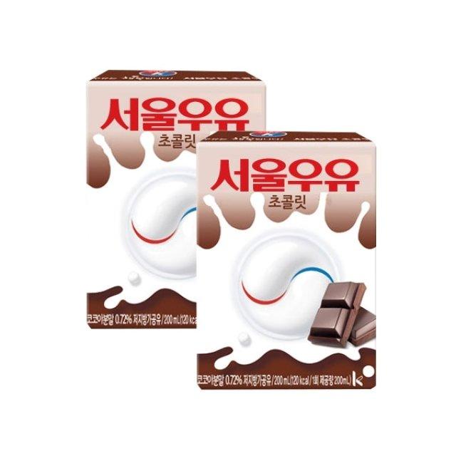 [서울우유]멸균 초코우유 200ml x 24팩