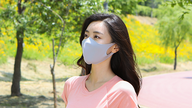 [세탁가능] 안녕 항균 숨 마스크 12장 (쿨링, 흡한속건, UV차단)