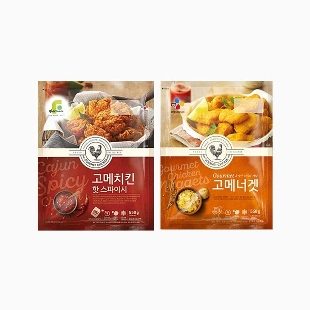 CJ 고메 너겟 550g + 고메 치킨 핫스파이시 550g