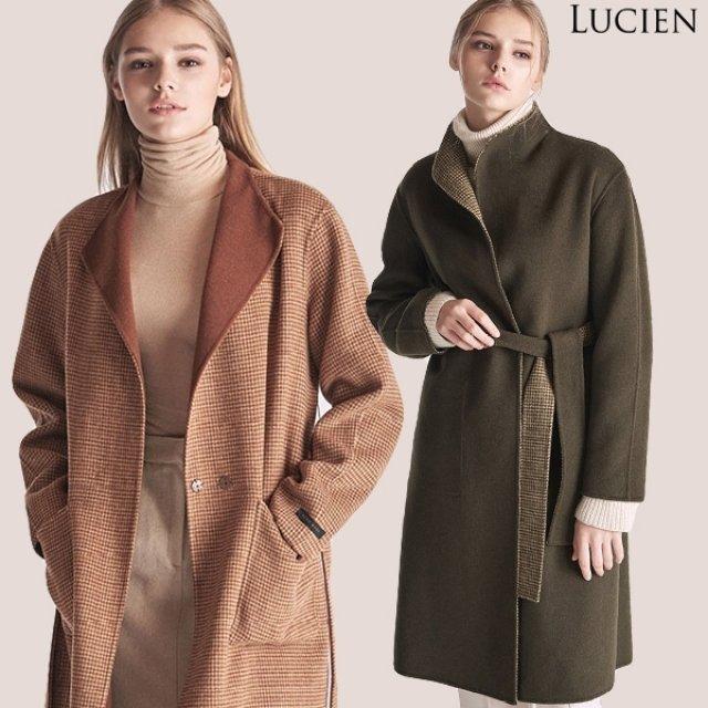 [루시앙] 울혼방 리버서블 핸드메이드 코트