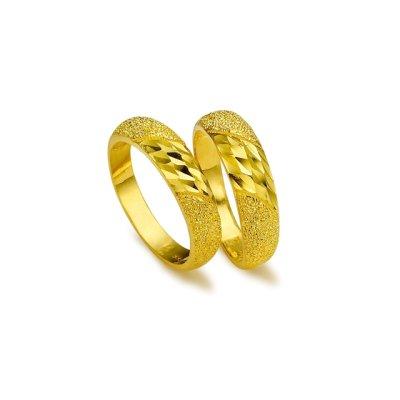 [펠리체골드] 24k 순금 다이아몬드컷팅 쌍반지 7.5g (+사은품 샴페인 주얼리 세트)