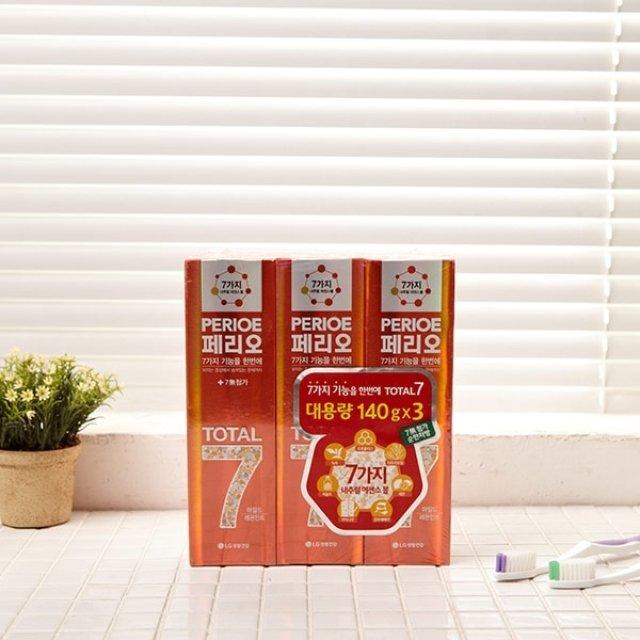 페리오 치약 양치 세안용품 욕실용품 레몬 LG