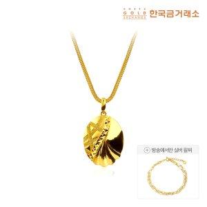 [THE유난희] 한국금거래소 24K 순금 오르비스 목걸이 30g + 실버 클립 팔찌