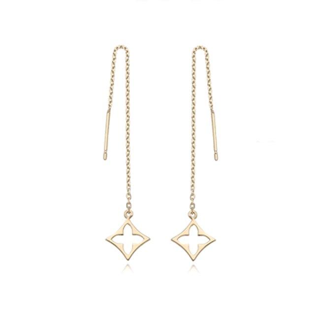 GIO gem 18k 롱체인 드롭 귀걸이 1종 [단품]