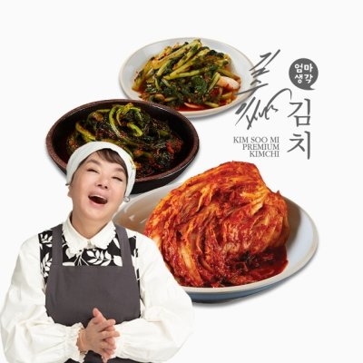 김수미 엄마생각 프리미엄 김치 3종 [포기김치 5kg + 갓김치 2kg + 열무김치 2kg]