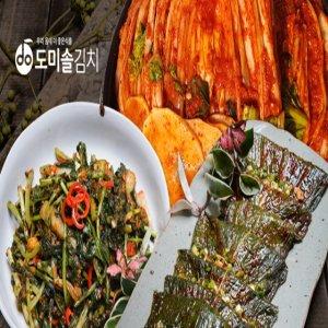 [선택1]도미솔김치 3종(팔도맛있는포기김치 6kg+열무김치 2kg+맛깔 깻잎김치 1kg)