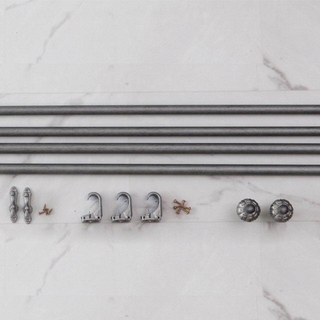 [한스데코] 침실 3단 커튼봉  100-300cm